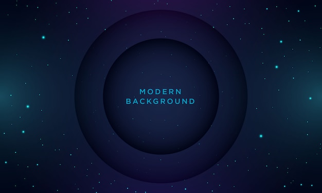 Abstract minimal dark blue background with texture and circle