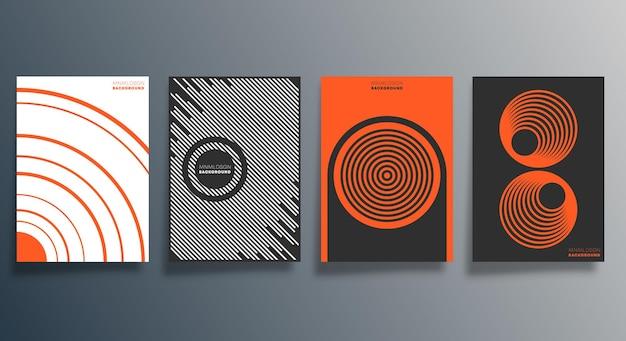 전단지, 포스터, 브로셔 표지, 배경, 벽지, 인쇄술 또는 기타 인쇄 제품에 대한 추상적인 최소 디자인. 벡터 일러스트 레이 션.