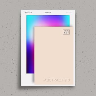 チラシ、ポスター、パンフレットの表紙、ポートフォリオテンプレート、壁紙、タイポグラフィ、またはその他の印刷製品の抽象的な最小限のデザイン。ベクトルイラスト。
