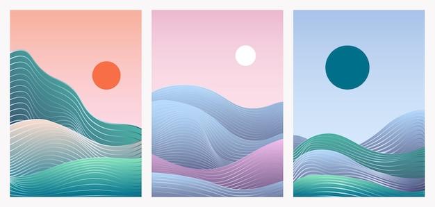 Abstract minimal gradient landscape set template