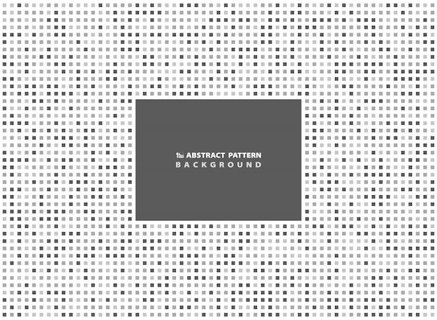 抽象的な最小限の灰色の正方形のパターンの背景。