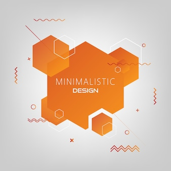 Abstract minimal hexagon modern background.