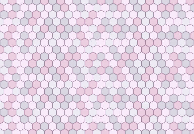 Abstract minimal hexagonal pattern design of soft pastel background.