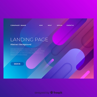 Abstract minimal landing page template