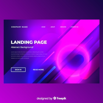 Abstract minimal landing page
