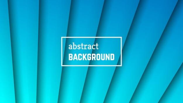 抽象的な最小限の線の幾何学的な背景。バナー、テンプレート、カードの青い線のレイヤーの形。ベクトルイラスト。