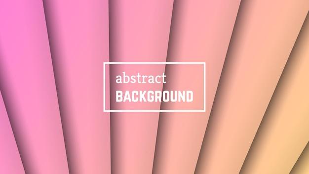 抽象的な最小限の線の幾何学的な背景。バナー、テンプレート、カードのピンクの線のレイヤーの形。ベクトルイラスト。