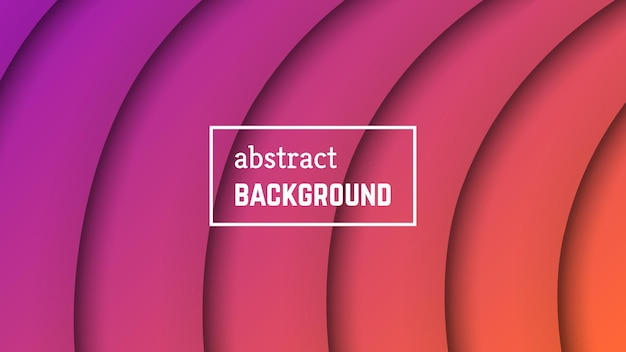 抽象的な最小限の線の幾何学的な背景。バナー、テンプレート、カードの紫色の線のレイヤーの形。ベクトルイラスト。