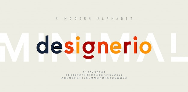 Abstract minimal modern alphabet fonts. typography minimalist urban digital fashion future creative  font