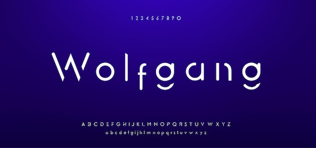 Abstract minimal modern alphabet fonts. typography minimalist urban digital fashion future creative logo font