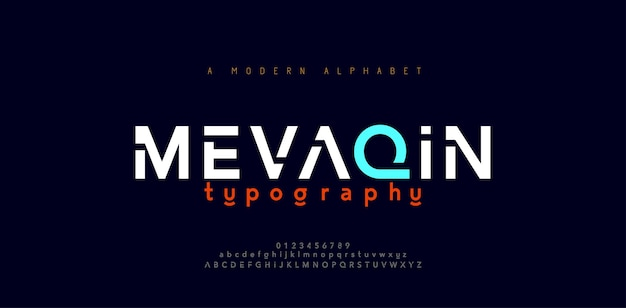 Abstract minimal modern alphabet fonts. typography minimalist urban digital fashion future creative logo font.