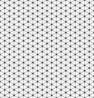 Векторный бесшовный узор современная стильная текстура повторяющиеся геометрические плитки с пунктирным ромбом