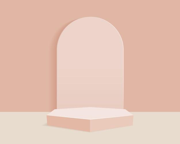 Абстрактный минимальный фон сцены с геометрическими формами. дизайн для презентации продукта.