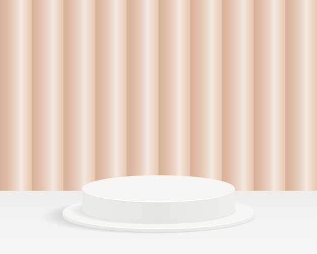 Abstract minimal scene background with geometrical forms. design for product presentation.