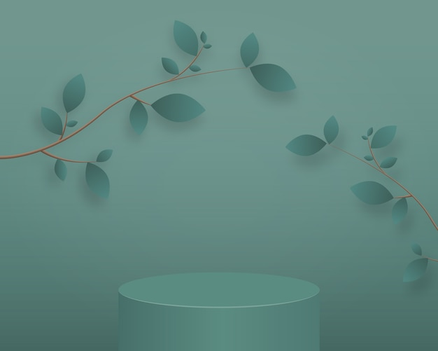 Abstract minimal scene background with geometrical forms
