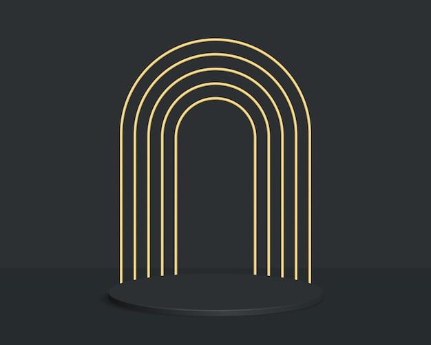 幾何学的な形で抽象的な最小限のシーンの背景