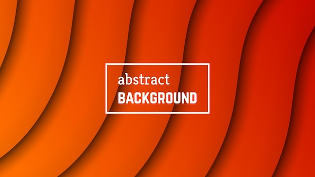 Abstract minimal wave geometric background.  orange wave layer shape for banner, templates, cards. vector illustration.