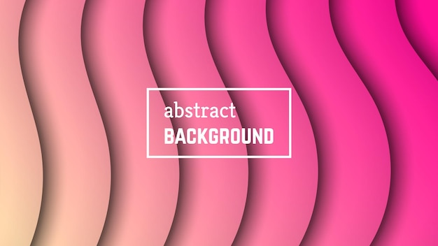 Abstract minimal wave geometric background.  pink wave layer shape for banner, templates, cards. vector illustration.