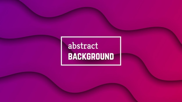 Abstract minimal wave geometric background.   purple wave layer shape for banner, templates, cards. vector illustration.