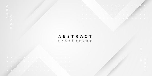 Abstract minimal white background with slice of paper layer