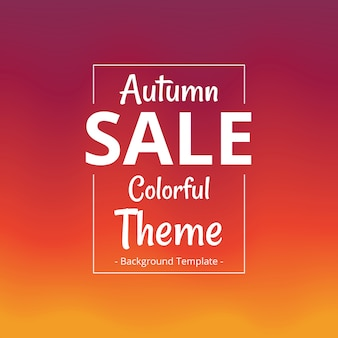 Abstract minimalist autumn theme sale colorful template