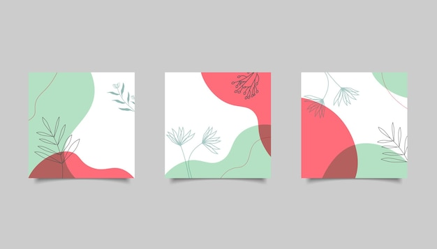 Абстрактный минималистичный фон для публикации в социальных сетях