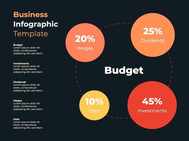 Абстрактный минималистичный бизнес-инфографический шаблон