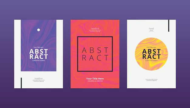 Abstract minimalist covers pack