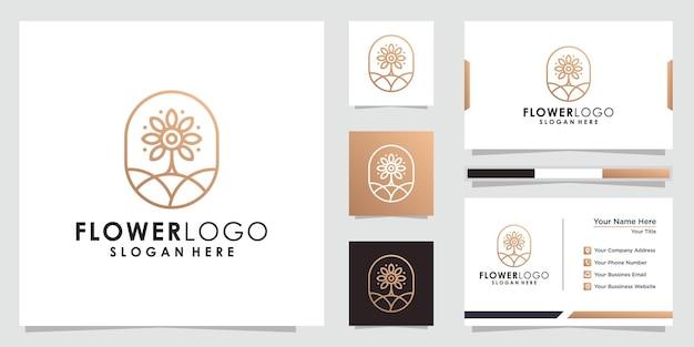 Абстрактный минималистский цветочный дизайн логотипа цветочный логотип и дизайн визитной карточки