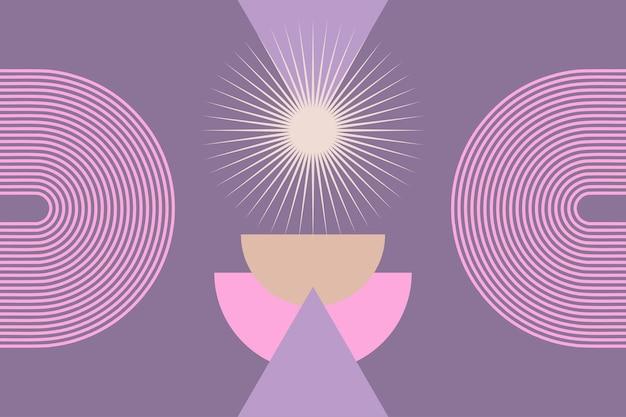 Абстрактный минималистичный графический фон в стиле бохо