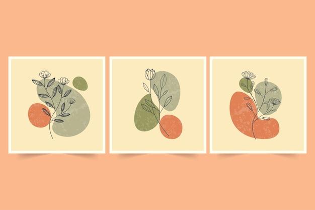 Abstract minimalist hand drawn for social media post Premium Vector