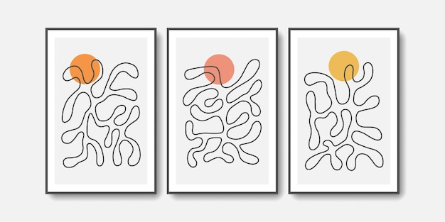 Abstract minimalist matisse collection