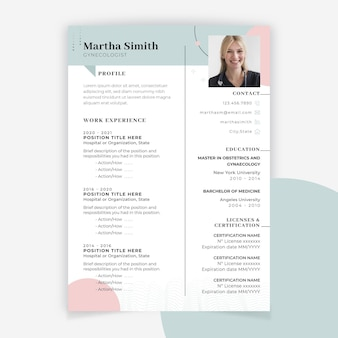 Abstract minimalist medical resume