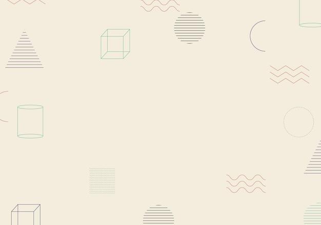 抽象的なミニマリストメンフィスの幾何学的な背景。ベクトルイラスト。抽象的な背景。