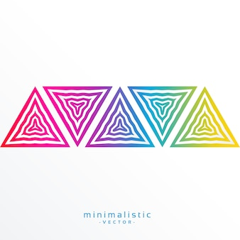 Abstract minimalistic background with colorful triangles