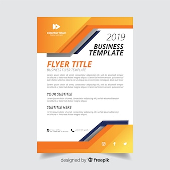 Abstract minimalistic business flyer template
