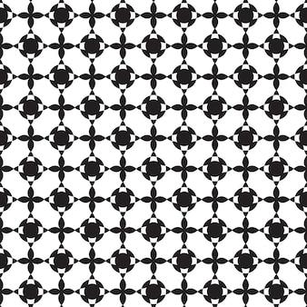 モノクロスタイルの図で繰り返し構造を持つ抽象的なミニマルなグラフィックデザインのシームレスなパターン