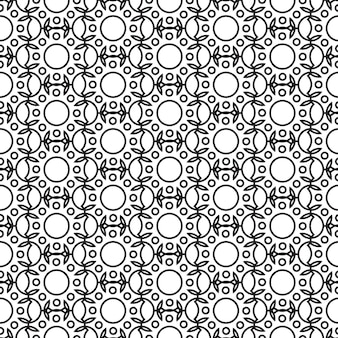 Abstract minimalistic seamless pattern with repeating geometric structure in monochrome style illustration