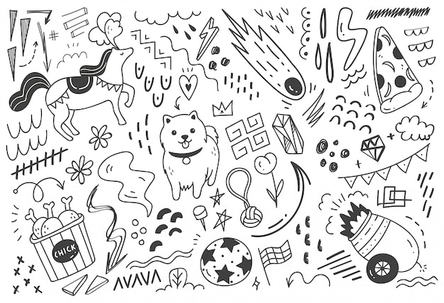 Abstract mix doodle   illustration