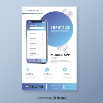Abstract mobile app flyer