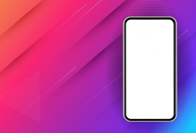 Abstract mobile phone icon.  illustration