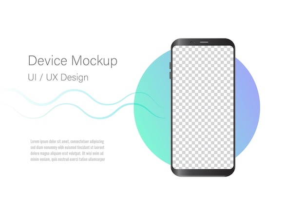 Abstract mockup of mobile phone