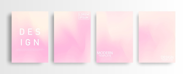 Abstract mockup pastel pink gradient background a4 concept for your graphic colorful , layout  template for brochure