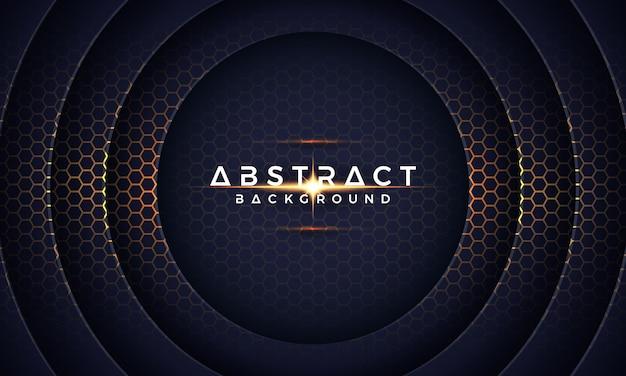 Abstract modern 3d dark circle paper cut vector background.