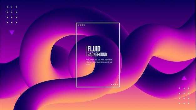 Abstract modern 3d fluid shape background