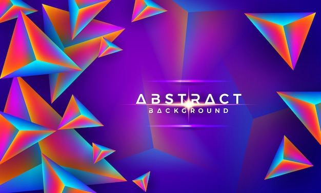 Abstract modern 3d triangle colorful background.