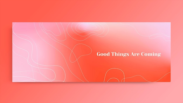 Abstract modern aesthetic facebook profile cover