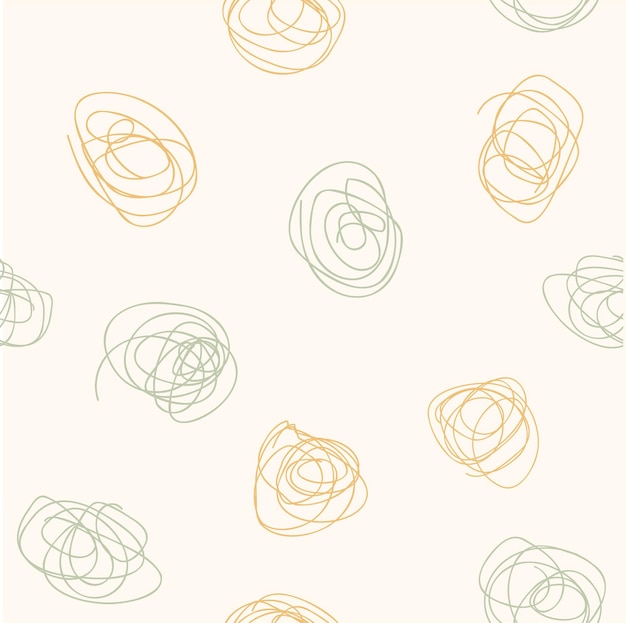 Abstract modern aesthetic seamless patterns with trendy tangled lines. creative scandinavian background for fabric, packaging, textile, wallpaper, clothing. vector illustration in hand drawn style.
