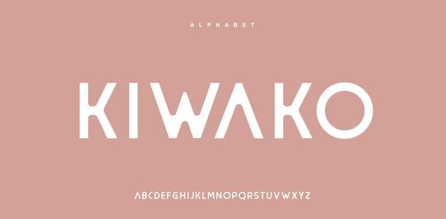大文字の抽象的な現代アルファベットフォント