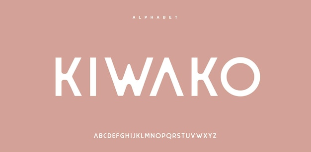 Abstract modern alphabet font in uppercase